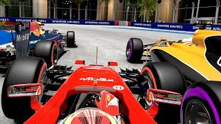 THIS RACE DIDN\'T GO TO PLAN - F1 2017 Mod Career Mode Part 13: Singapore