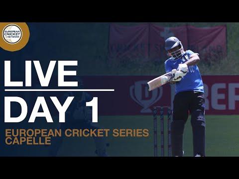 🔴 Live European Cricket Series Capelle, Day 1 | Cricket Live Stream