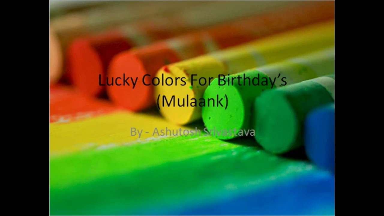 secret of lucky colors based on Numerology number - YouTube