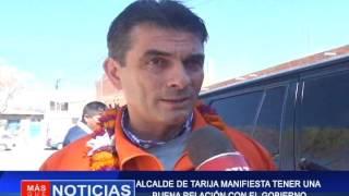 ALCALDE DE TARIJA MANIFIESTA TENER UNA BUENA RELACIÓN CON EL GOBIERNO