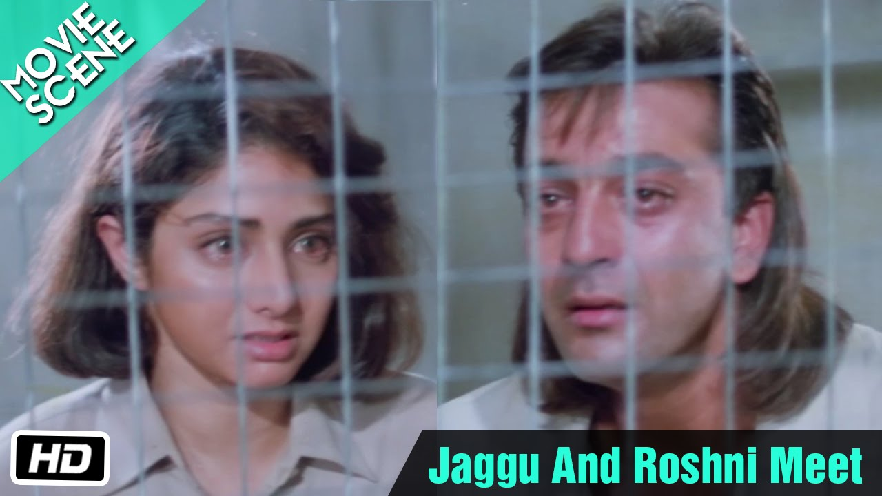 Jaggu And Roshni Meet - Movie Scene - Sridevi, Sanjay Dutt, Anupam Kher