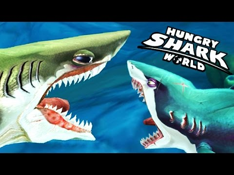hungry shark world megalodon vs gold enemy megalodon doovi