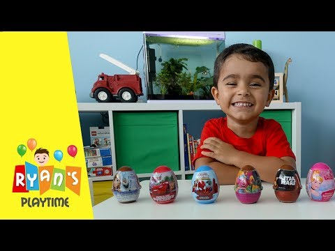 I'M SO EXCITED   DISNEY SURPRISE EGG Opening   PRICLESS REACTIONS   LIGHTNING MCQUEEN SURPRISE EGGS