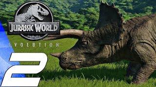 Jurassic World Evolution - Gameplay Walkthrough Part 2 - Triceratops (Ultra Settings)