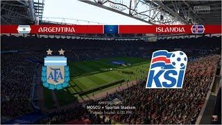 Simulación Argentina vs Islandia mundial Russia 2018