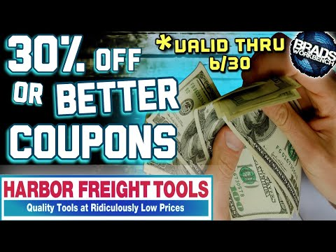 BEST Harbor Freight COUPONS, Excluded Items, & NEW TOOLS || April 2020