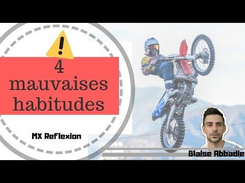 4 MAUVAISES HABITUDES en MOTOCROSS