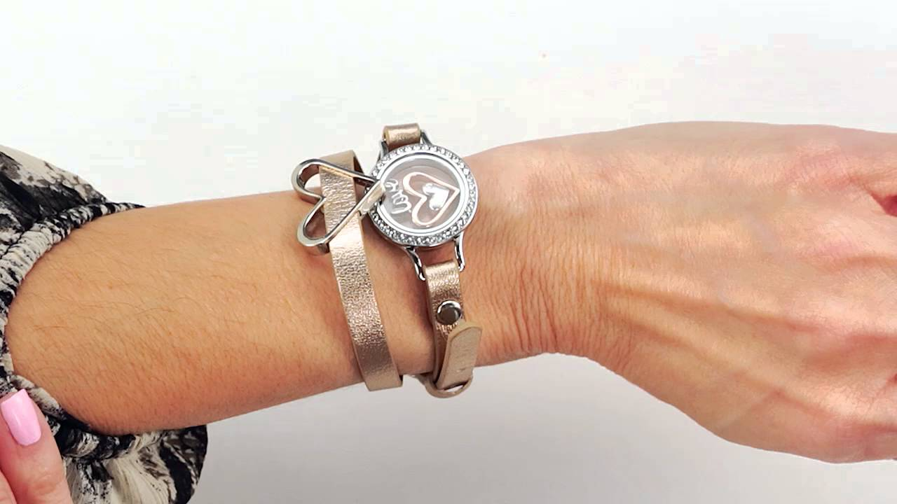 Origami Owl Fall 2018 SILVER BAR WRAP BRACELET LIVING LOCKET WITH ... | 720x1280