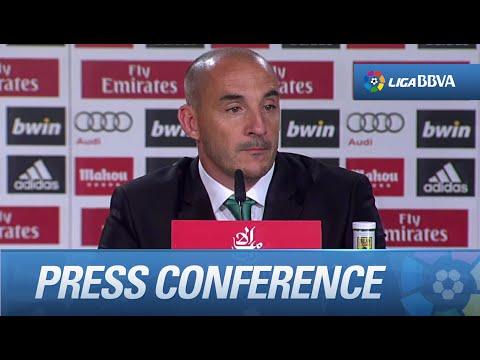 """Chapi Ferrer: """"Estoy contento con el juego de mi equipo, pero nos hubiera gustado marca"""""""