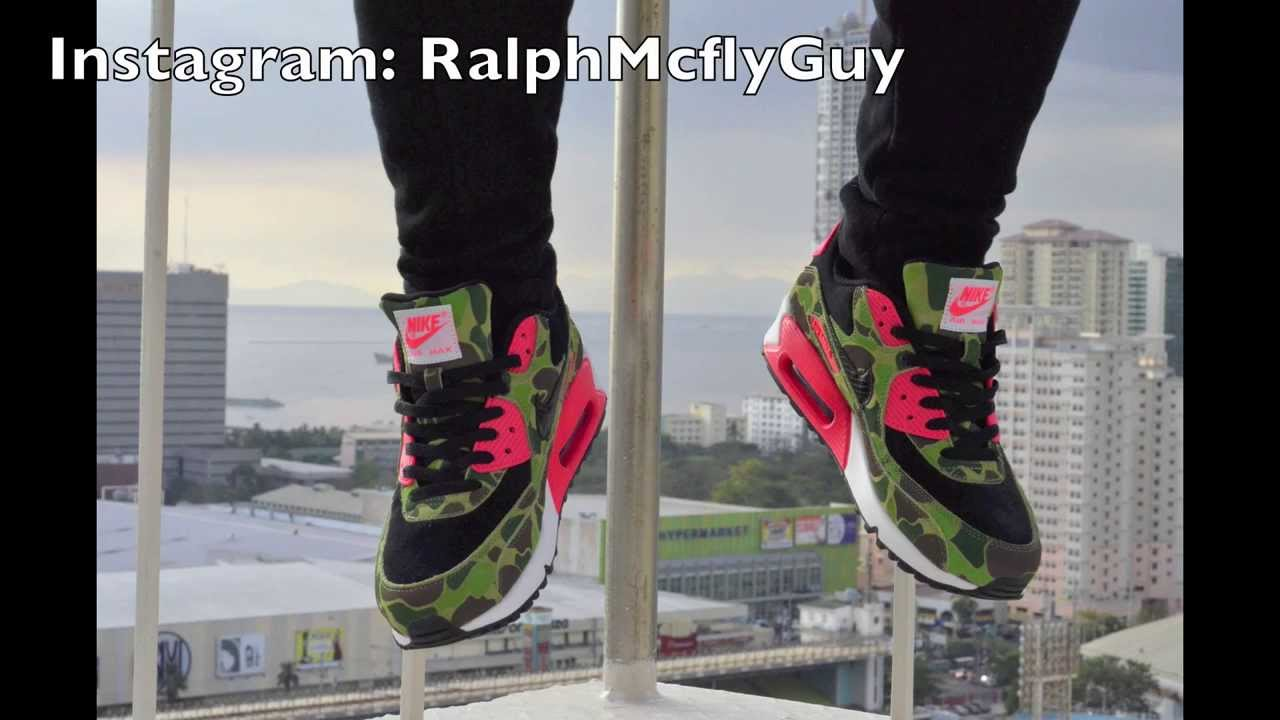cce46ca7e44 Nike x Atmos Air Max 90 Duck Hunter Camo Review + On Feet - YouTube