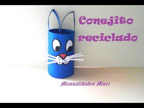 Manualidades conejo con rollo de papel higi nico muy f cil youtube - Manualidades rollos de papel higienico ...