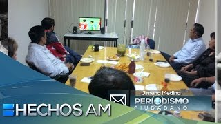 Reporte ciudadano - Godínez viendo el partido México contra Panamá
