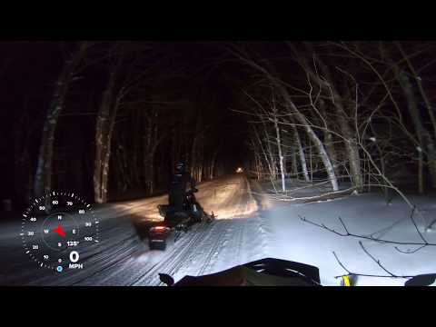 Tug Hill Snowmobiling At 2am