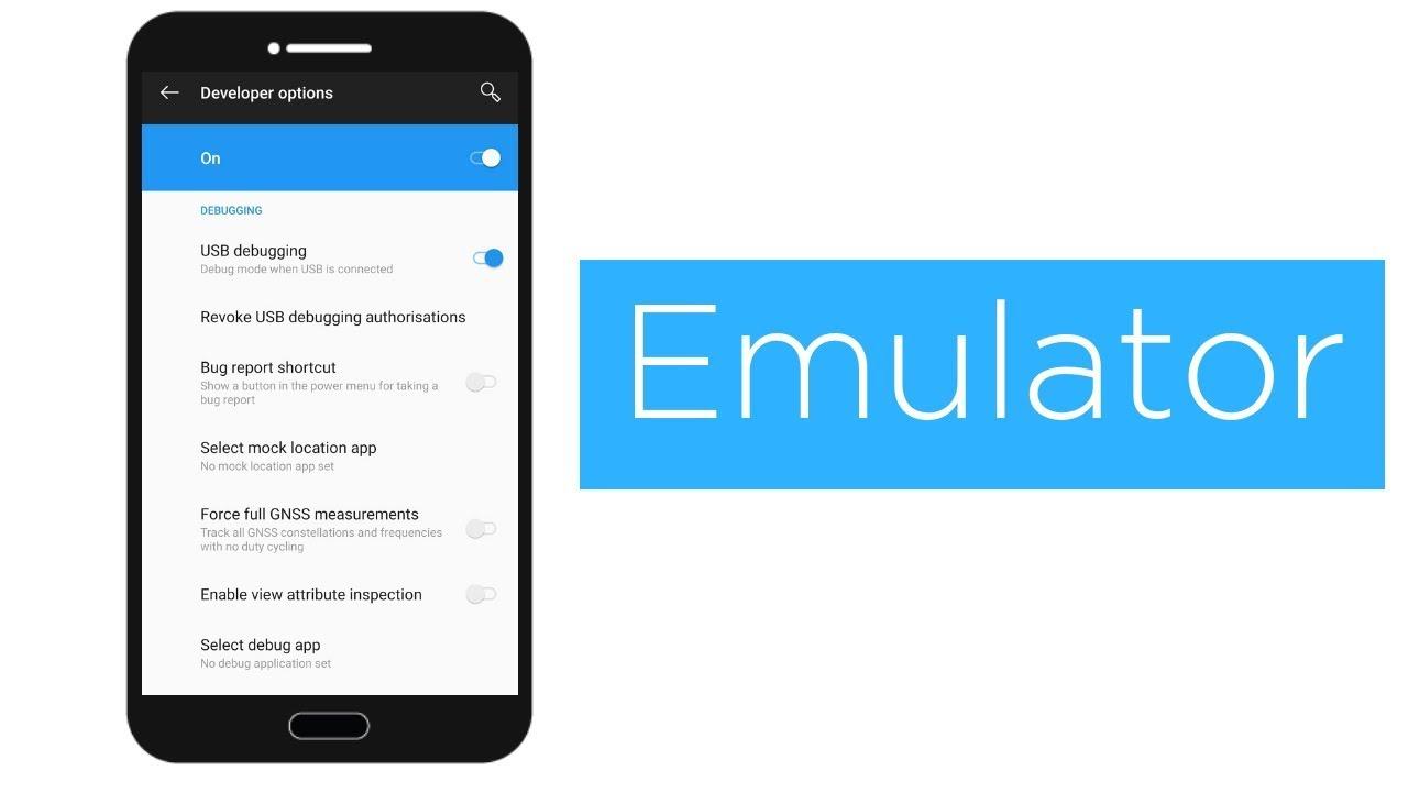 Enable USB Debugging and Android Emulator