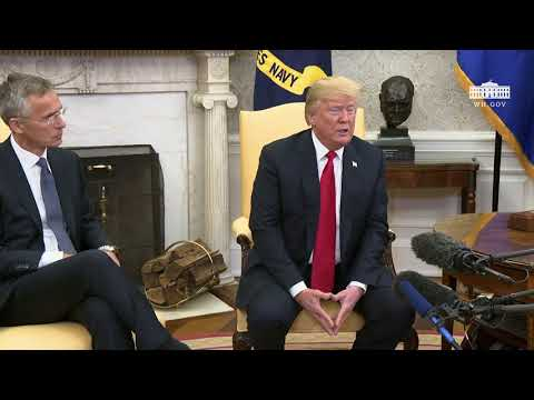 President Trump Meets with the Secretary General of NATO