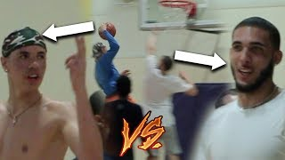 LiAngelo Ball vs LaMelo Ball GOING AT IT BACK IN LA from Lithuania!