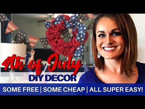 DIY DECOR: Patriotic Decor Ideas On a Budget, Some Free!