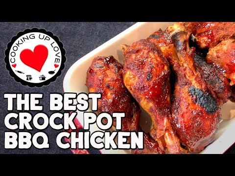 The Best Slow Cooker BBQ Chicken 🍗| Potluck Recipes | Cooking Up Love
