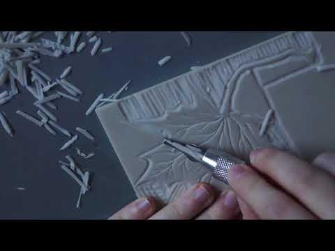 Lino Cutting - Autumn Leaf