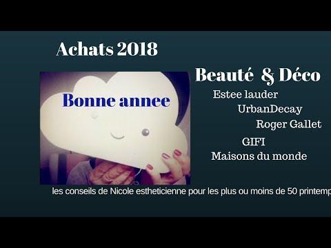 Premiers achats 2018, beauté et déco ,Estee Lauder, Urban Decay Gifi, maisonsdumonde