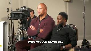 """Kevin Hart can't stop laughing when The Rock says Kevin would be """"Honky Pete"""""""