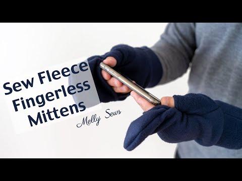 How To Sew Fleece Mittens - Convertible Fingerless Gloves