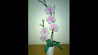Орхидея из бисера. Часть 2 - Бутончик и Листик. Orchid
