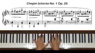 Chopin Scherzo No. 1, Op. 20 Piano Tutorial Part 1