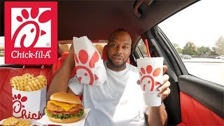 CHICK FIL A MUKBANG IN MY DODGE CHARGER **CAR TALK**