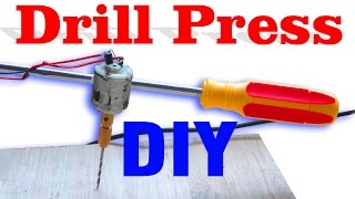 How to Make a Drill Press Machine Very Simple at Home | DIY Mini Drill⚙