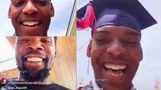 Kevin Durant Shocks Fan On His College Graduation & Gets Emotional!