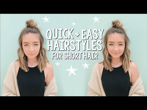 Quick & Easy Hairstyles for Short Hair!