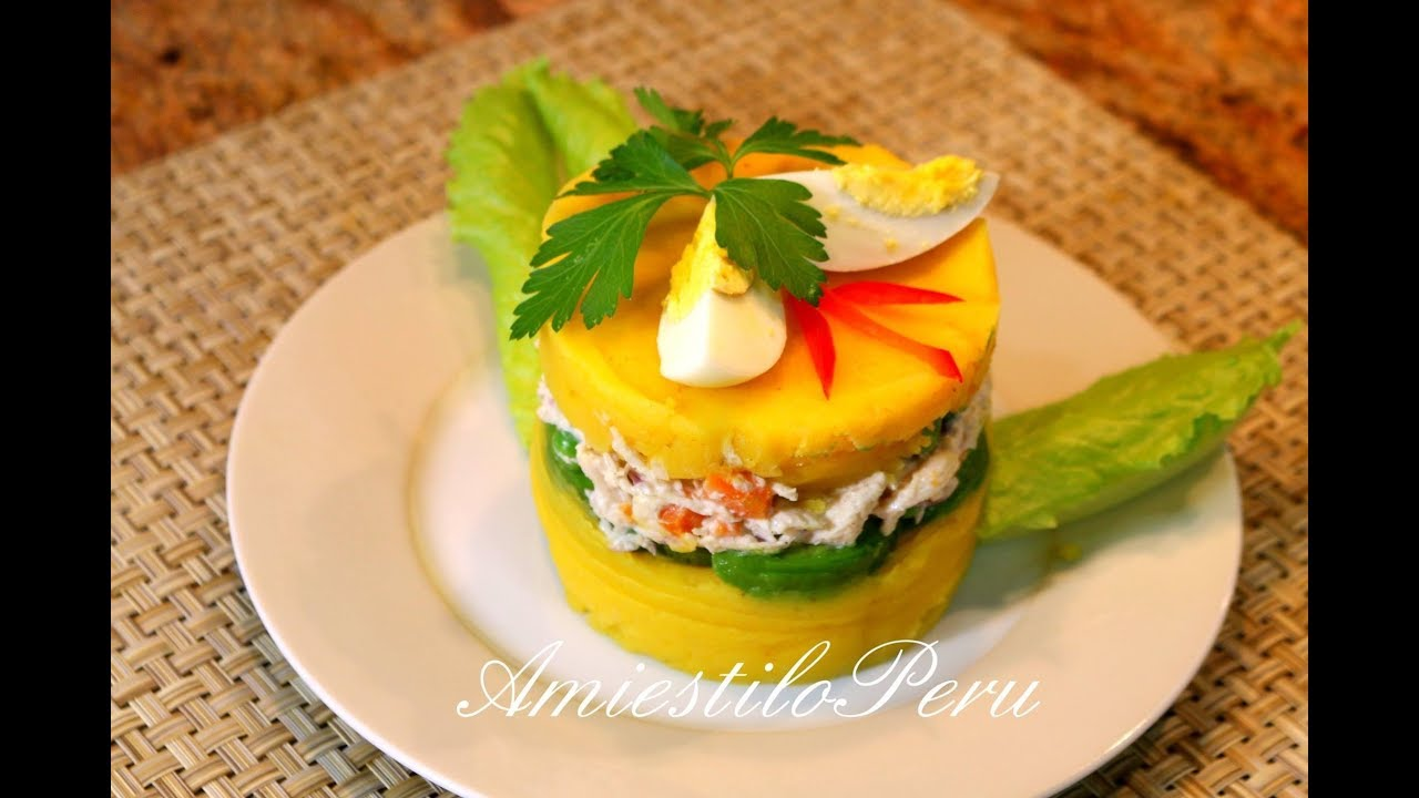 Causa Rellena Con Pollo Youtube