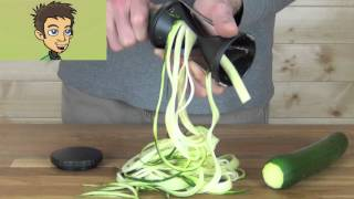 Gefu Spirelli Handheld Spiral Slicer Demonstration in the Raw Nutrition Kitchen