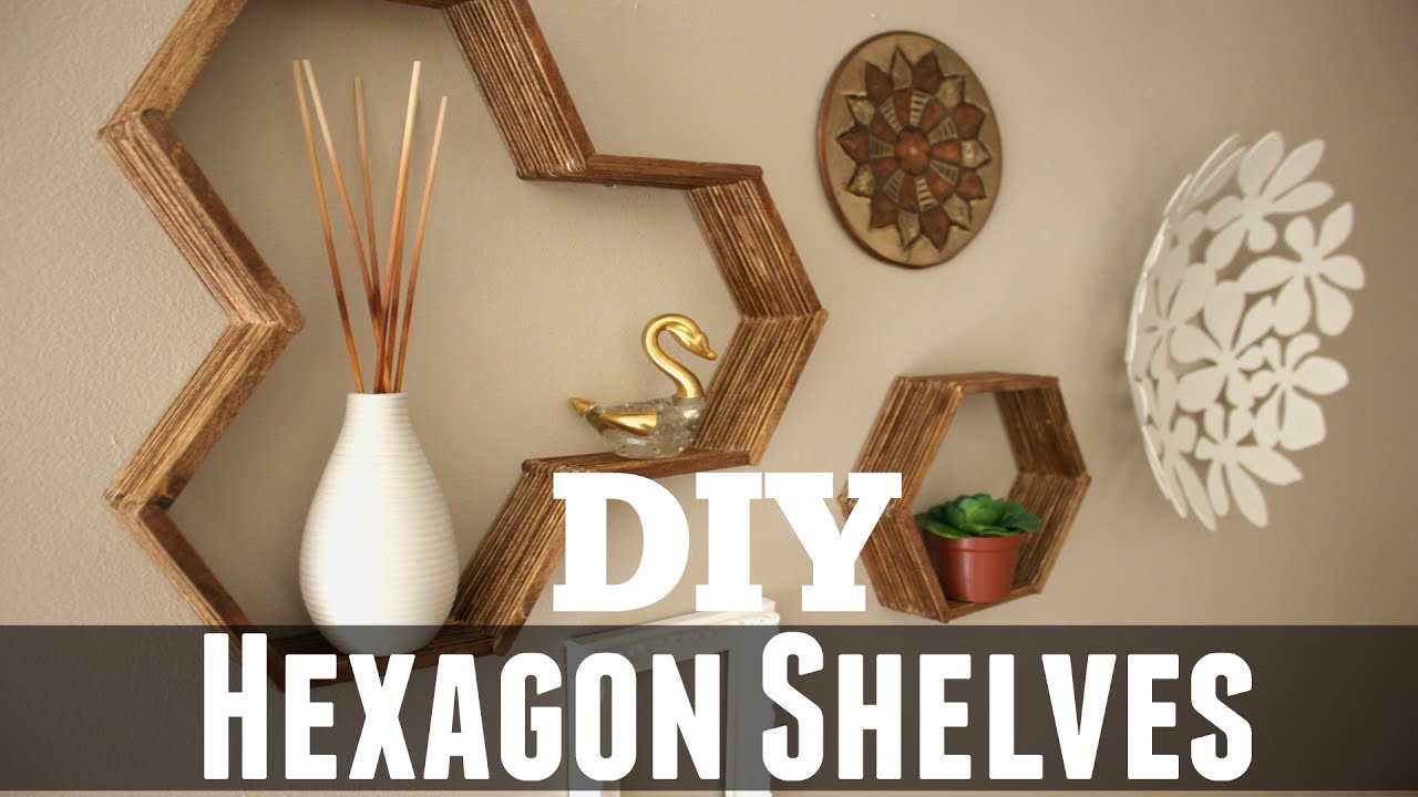 shelves with diy honeycomb hexagon photos step bookshelf by tutorial vert