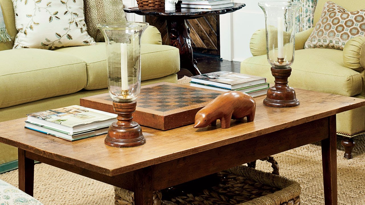 Coffee table decorating tips southern living youtube for Southern living login