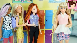 "Frozen Teenagers First day Of School "" The Pimple"" Doll Story Princess Daughters - Royal High EP1"