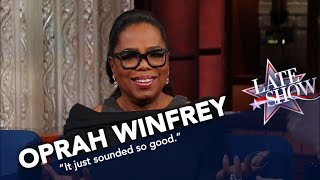 Oprah Helps Stephen Make Anything Exciting