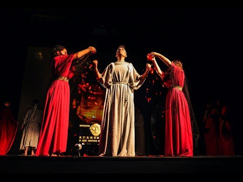 Greek Ancient  Theatre  Choephori  Produced by Gymnasium Mygdonias