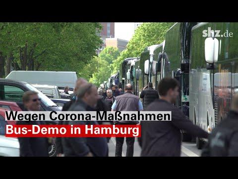 Wegen Corona-Maßnahmen: Bus-Demo in Hamburg