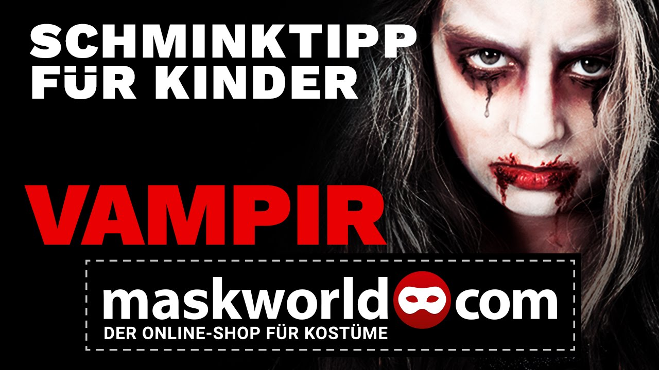 Halloween Kostuem Kinder Vampir Halloween Vampir Make Up Tutorial Kinderschminken Schminktipp Von Maskworld