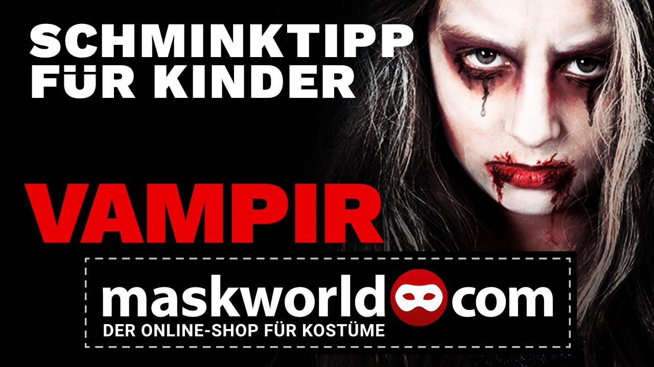 Halloween Vampir Make Up Tutorial Kinderschminken Schminktipp Von
