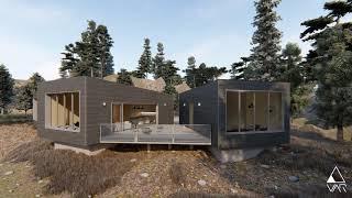 VAR - Architectural movie: Forest house - daylight scene