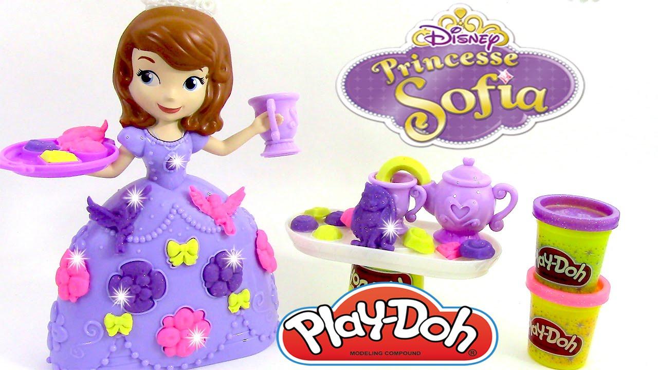 p 226 te 224 modeler princesse sofia le service 224 th 233 play doh sofia the tea