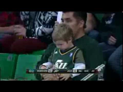 Young Jazz fan cries after loss