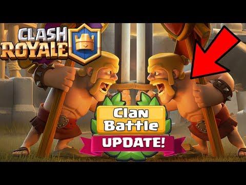 CEL MAI MARE UPDATE DE PE CLASH ROYALE! | Clan Battle!
