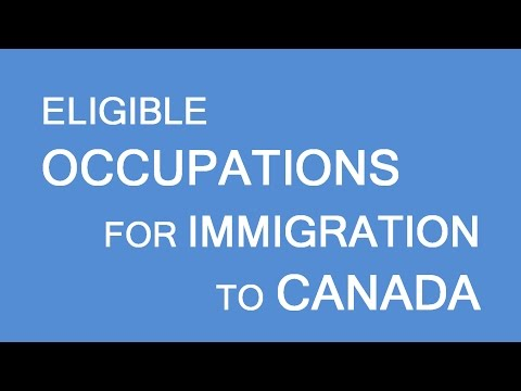 Skilled Immigration Canada: Eligible occupations list