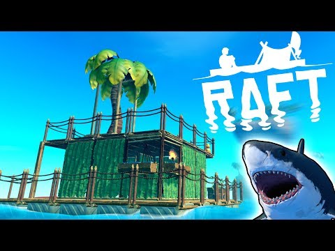 SCRAP MECHANIC MEETS OCEAN SURVIVAL! - Raft Multiplayer Gameplay First Look