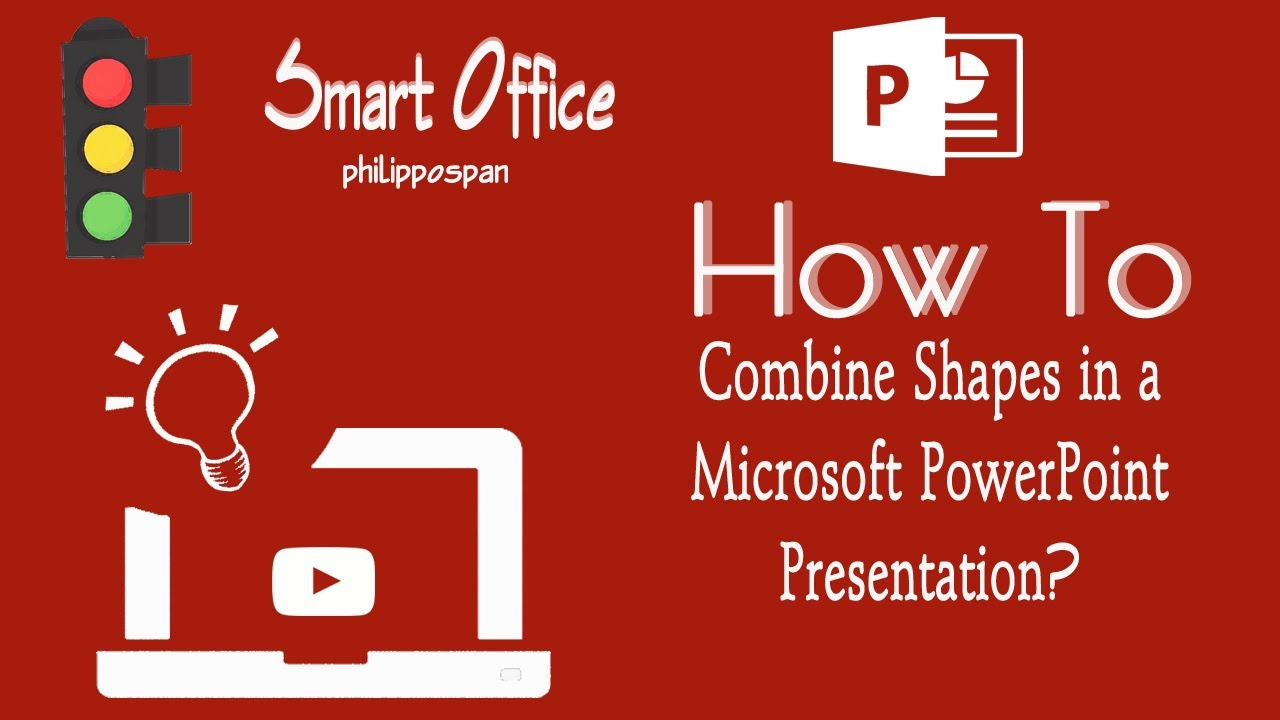 how to combine shapes in powerpoint 2016