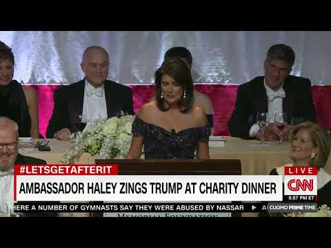 Haley at Charity Dinner: 'You Wanted an Indian Woman, but Elizabeth Warren Failed Her DNA Test'